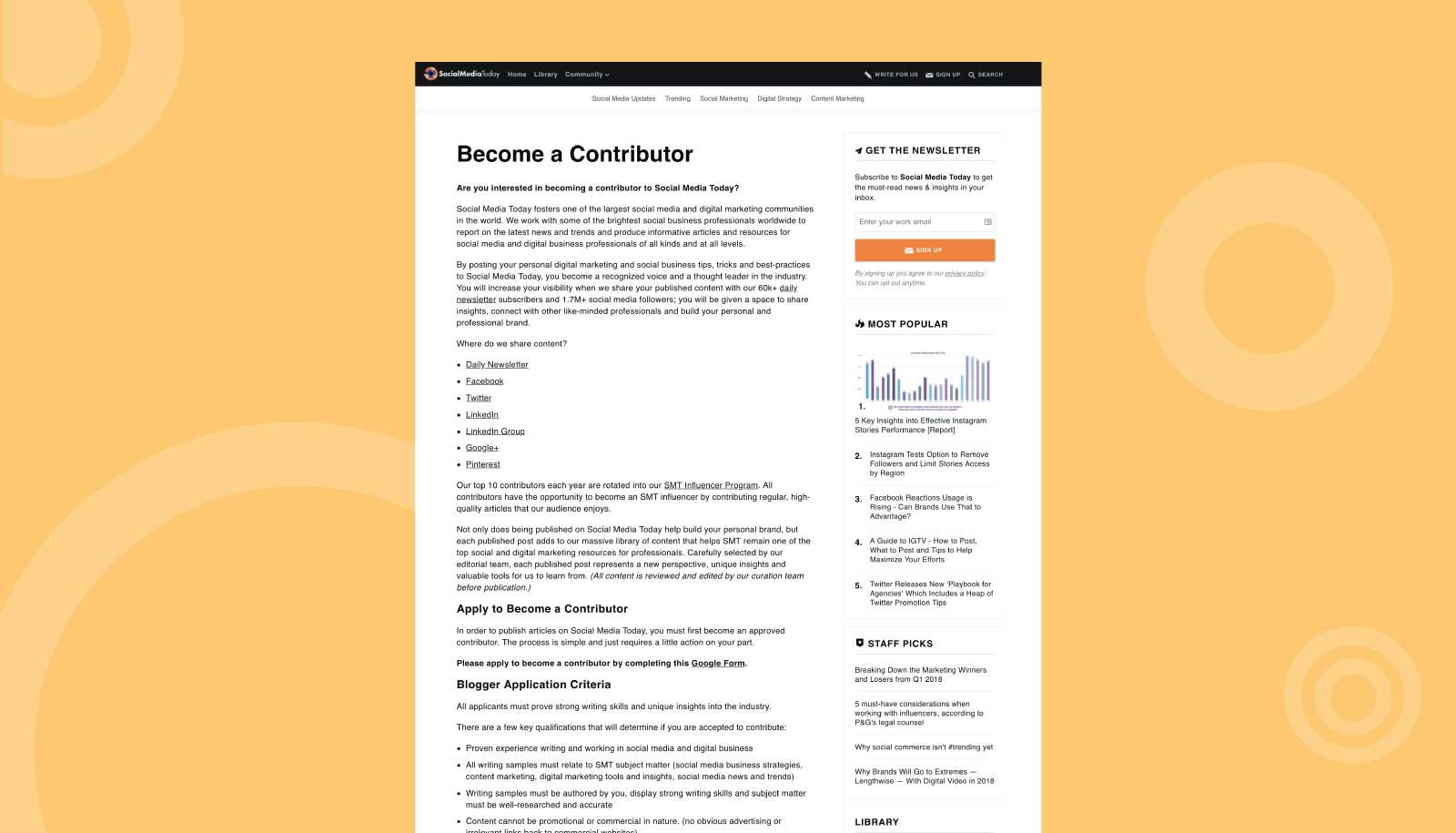 Initial Become a Contributor page