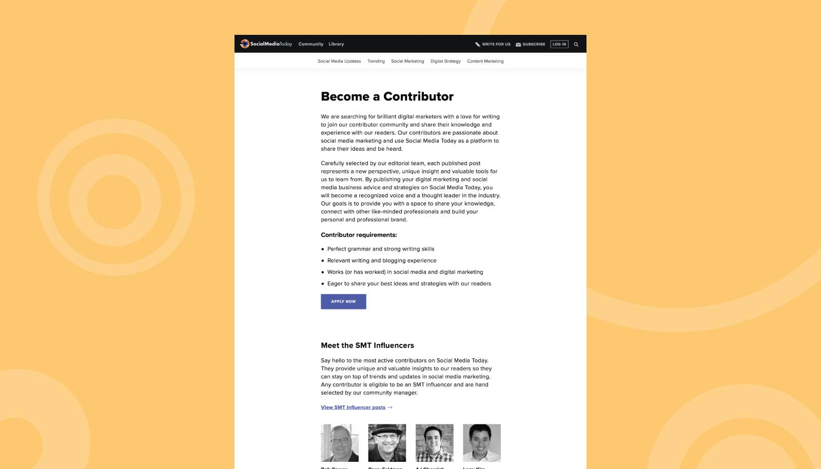 Become a Contributor page redesign